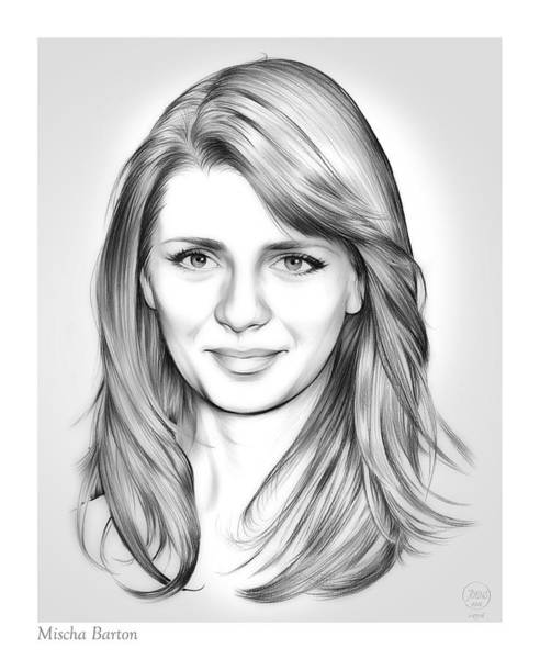 Actress Drawing - Mischa Barton by Greg Joens