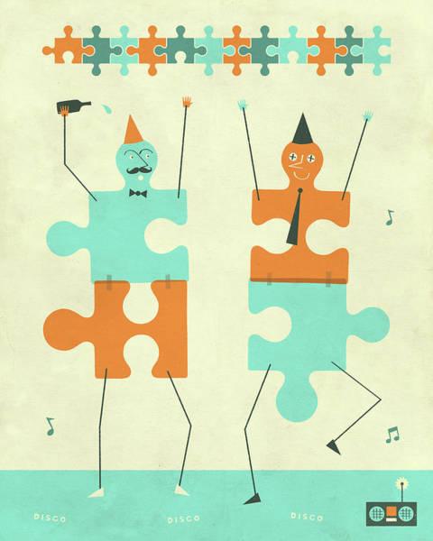 Puzzle Digital Art - Misfits by Jazzberry Blue