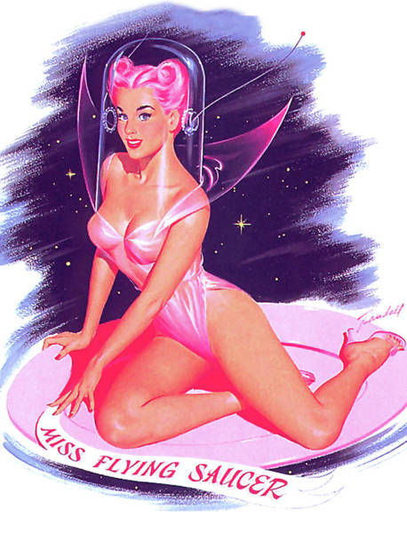 Wall Art - Painting - Miss Flying Saucer by Long Shot