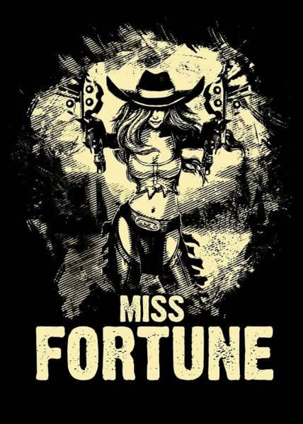 Fantasy Digital Art - Miss Fortune - Vintage Comic Line Art Style by Dusan Naumovski