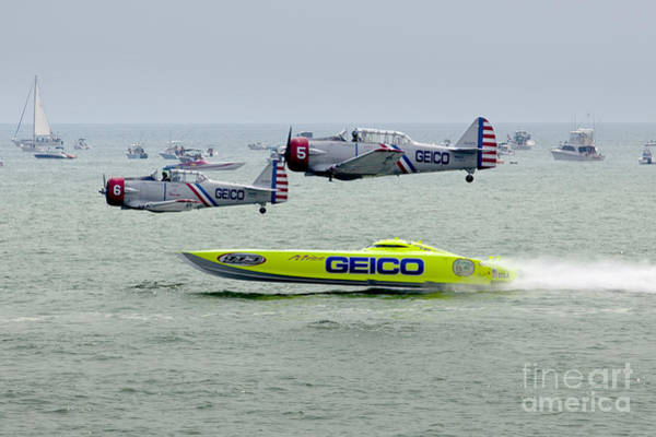 Wall Art - Photograph - Miss Geico And The Geico Skytypers Airshow Team by Anthony Totah