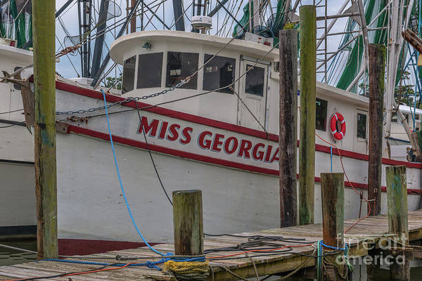 Photograph - Miss Georgia Shrimp Boat Docked In Mccellanville Sc by Dale Powell