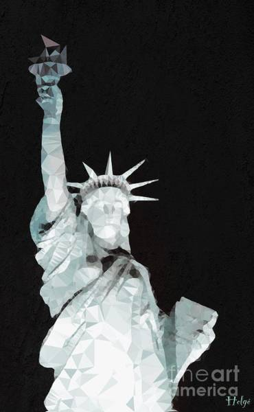 Digital Art - Miss Liberty by Helge