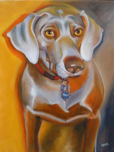 Weimaraner Painting - Miss Pearl by Kaytee Esser
