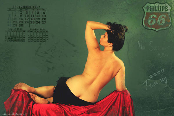 Wall Art - Painting - Miss September Circa 1952 by Cinema Photography