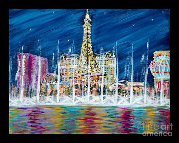 Miss You Las Vegas. Beautiful City View Art Print