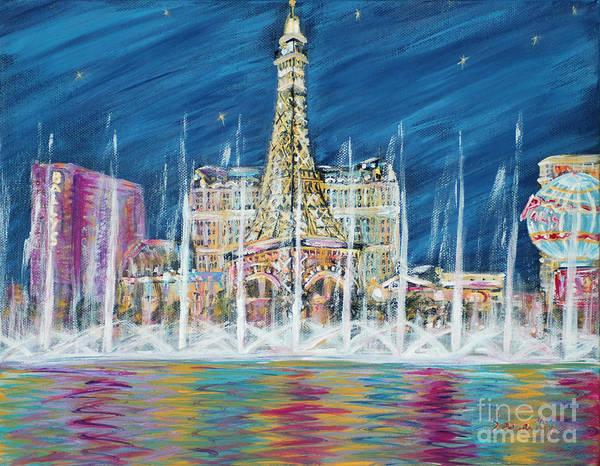 Painting - Miss You Las Vegas. Inspirations Collection  by Oksana Semenchenko
