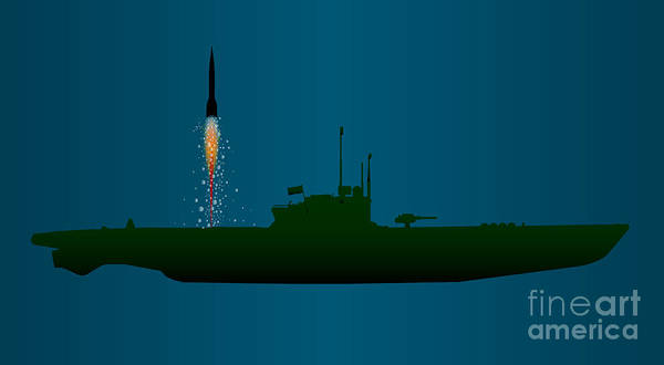 Atomic Weapons Digital Art - Missile Undersea Launch by Bigalbaloo Stock