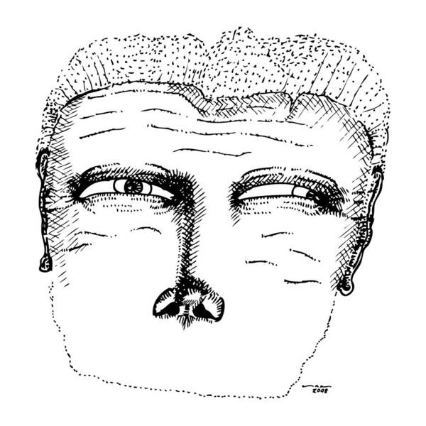Stipple Drawing - Missing Mouth by Karl Addison