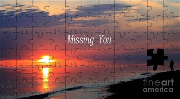 Miss You Photograph - Missing You by Steve K