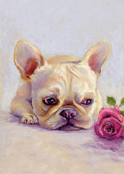 Single Rose Painting - Missing You by Susan Jenkins