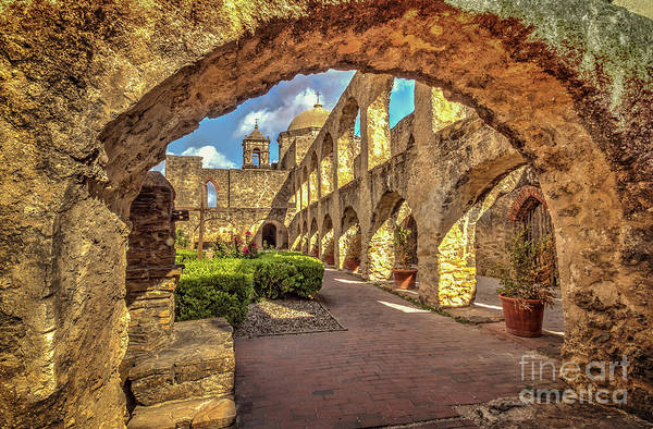 Mission Arches Art Print