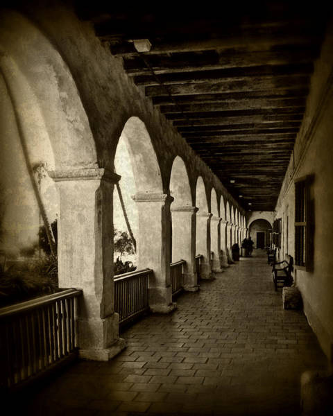 Mission Santa Barbara Photograph - Mission Arches by Perry Webster