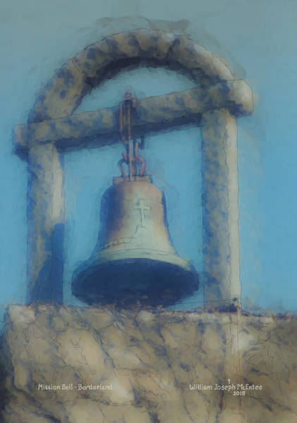 Painting - Mission Bell At Borderland by Bill McEntee