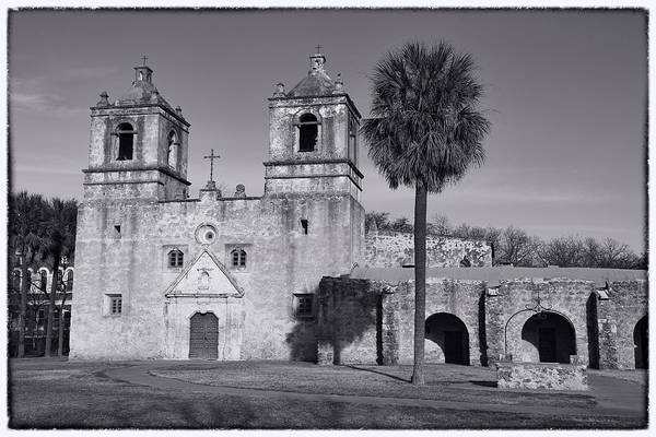 Wall Art - Photograph - Mission Concepcion -- Bw by Stephen Stookey