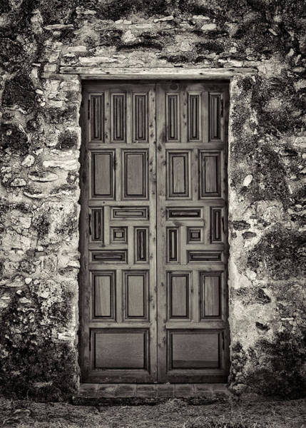 Spanish Mission Photograph - Mission Concepcion Door #1 by Stephen Stookey