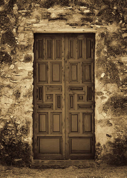 Spanish Missions Wall Art - Photograph - Mission Concepcion Door #2 by Stephen Stookey