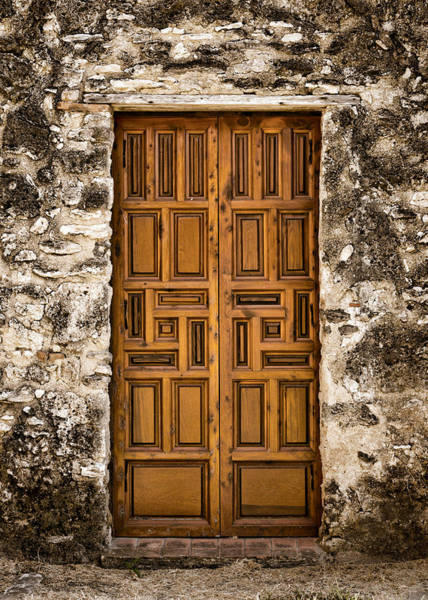 Nps Wall Art - Photograph - Mission Concepcion Door #3 by Stephen Stookey