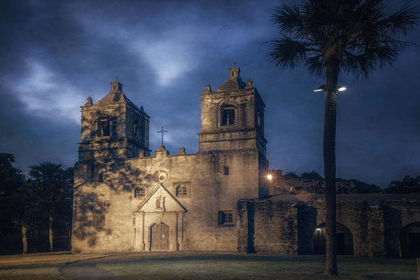 Photograph - Mission Concepcion Early Morning by Joan Carroll