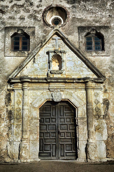 Spanish Missions Wall Art - Photograph - Mission Concepcion Entrance by Stephen Stookey