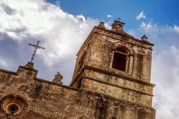 Photograph - Mission Concepcion Tower by Joan Carroll