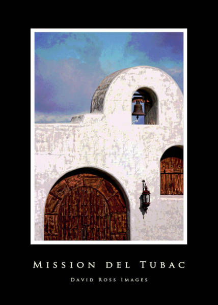 Mission Viejo Photograph - Mission Del Tubac Black Border by David Ross
