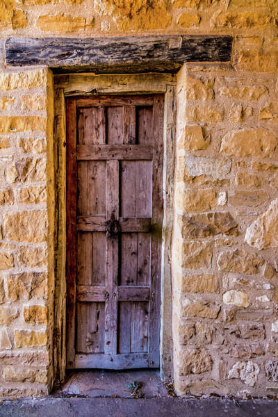 Photograph - Mission Door In Stone Wall With Rusty Knocker by Patti Deters