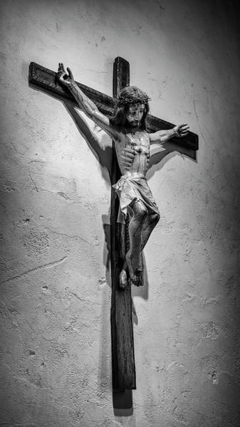 Wall Art - Photograph - Mission Espada Crucifix by Stephen Stookey