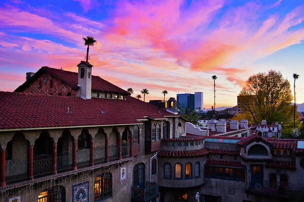 Photograph - Mission Inn Hotel Sunset by Kyle Hanson