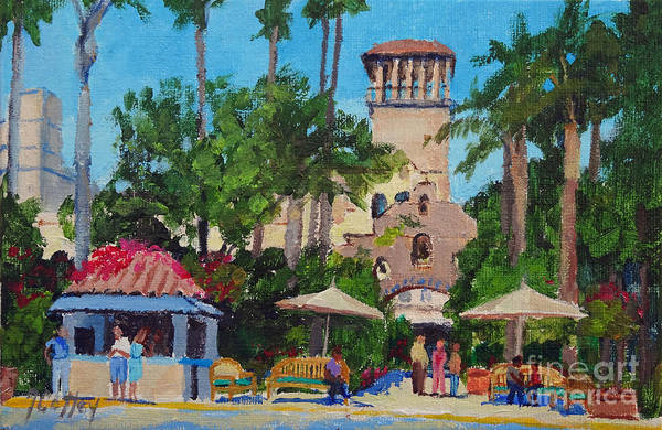 Painting - Mission Inn On A Sunny Day by Joan Coffey