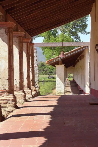 La Purisima Mission Photograph - Mission La Purisima Colonnade by Art Block Collections