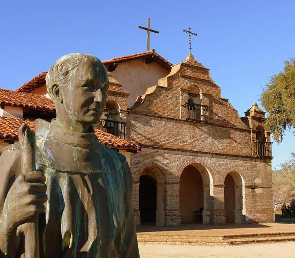 Mission San Antonio And Father Serra Art Print
