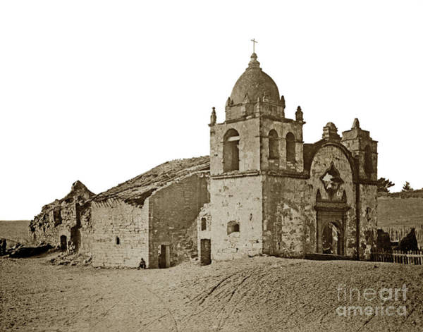 Photograph - Mission San Carlos Borromeo Del Rio Carmelo 1882 by California Views Archives Mr Pat Hathaway Archives