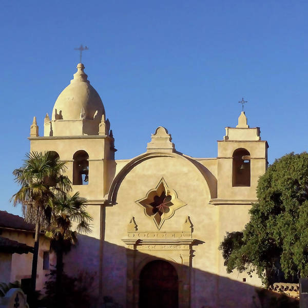 Carmel By The Sea Photograph - Mission San Carlos Borromeo by Art Block Collections