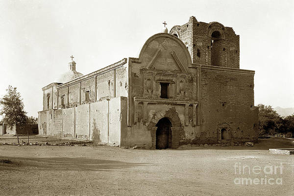 Photograph - Mission San Jose De Tumacacori  In Southern Arizona Circa 1920 by California Views Archives Mr Pat Hathaway Archives