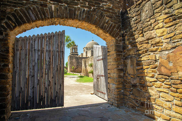 Photograph - Mission San Jose Entrance by Inge Johnsson