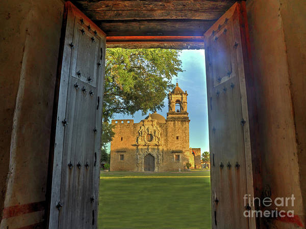 Wall Art - Photograph - Mission San Jose From The Granary by Michael Tidwell