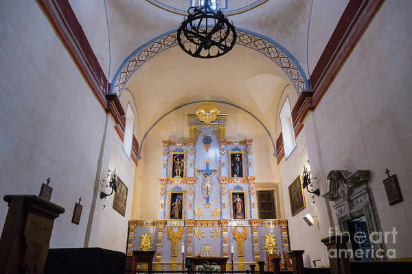 Photograph - Mission San Jose Interior by Wayne Moran