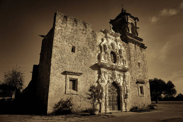 Spanish Missions Wall Art - Photograph - Mission San Jose - Sepia by Stephen Stookey