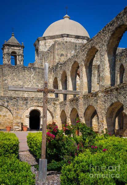Wall Art - Photograph - Mission San Jose Towers by Inge Johnsson