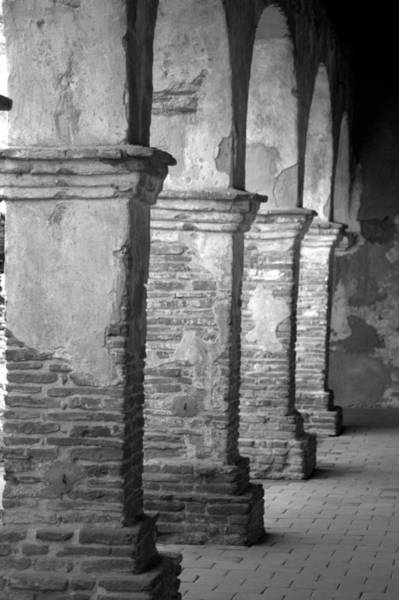 Mission Photograph - Mission San Juan Capistrano Arches by Brad Scott