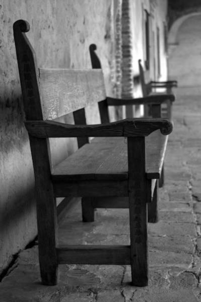 Mission Photograph - Mission San Juan Capistrano Bench by Brad Scott