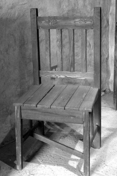 Photograph - Mission San Juan Capistrano Chair by Brad Scott