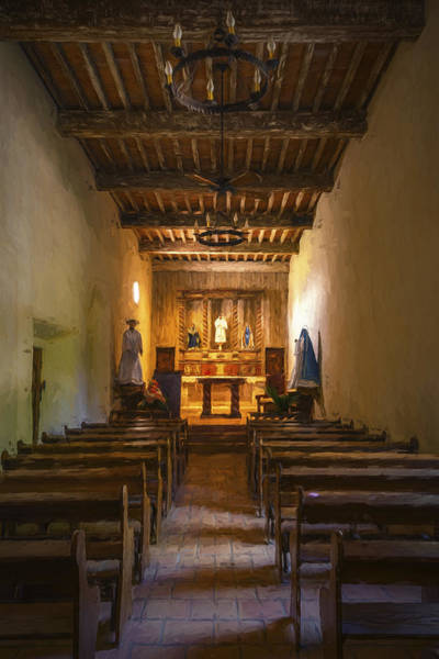 Photograph - Mission San Juan Capistrano Chapel Vertical Painterly by Joan Carroll