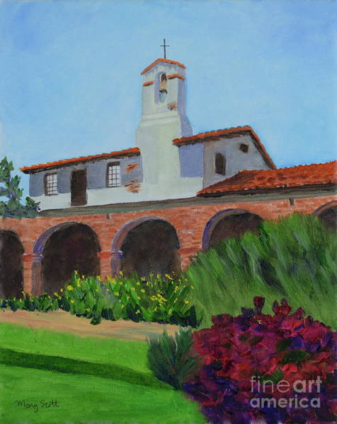 Painting - Mission San Juan Capistrano by Mary Scott