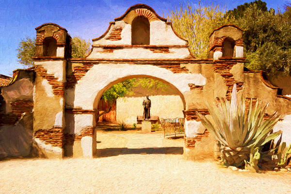Photograph - Mission San Miguel by Susan Rissi Tregoning