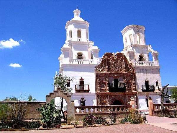 Photograph - Mission San Xavier Del Bac by Michelle Dallocchio