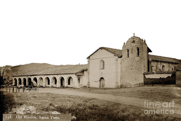 Photograph - Mission Santa Ines California Circa 1880 by California Views Archives Mr Pat Hathaway Archives