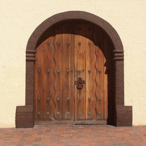 Solvang Photograph - Mission Santa Ines Door by Art Block Collections