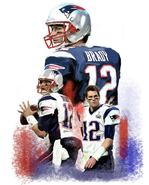 Painting - Mission Tom Brady by Iconic Images Art Gallery David Pucciarelli